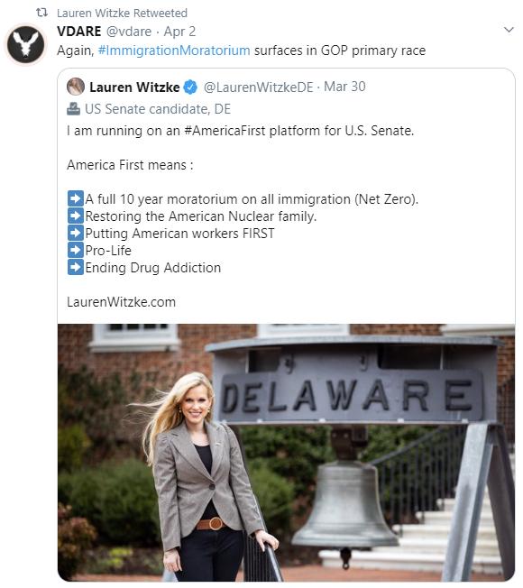 Lauren Witzke and VDare: April 2