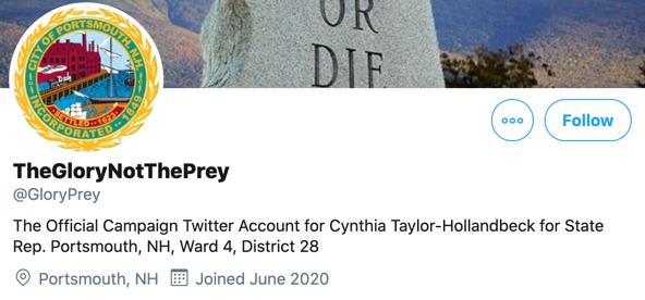 Cynthia Taylor-Hollandbeck campaign Twitter account