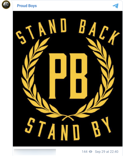 Proud Boys Stand By