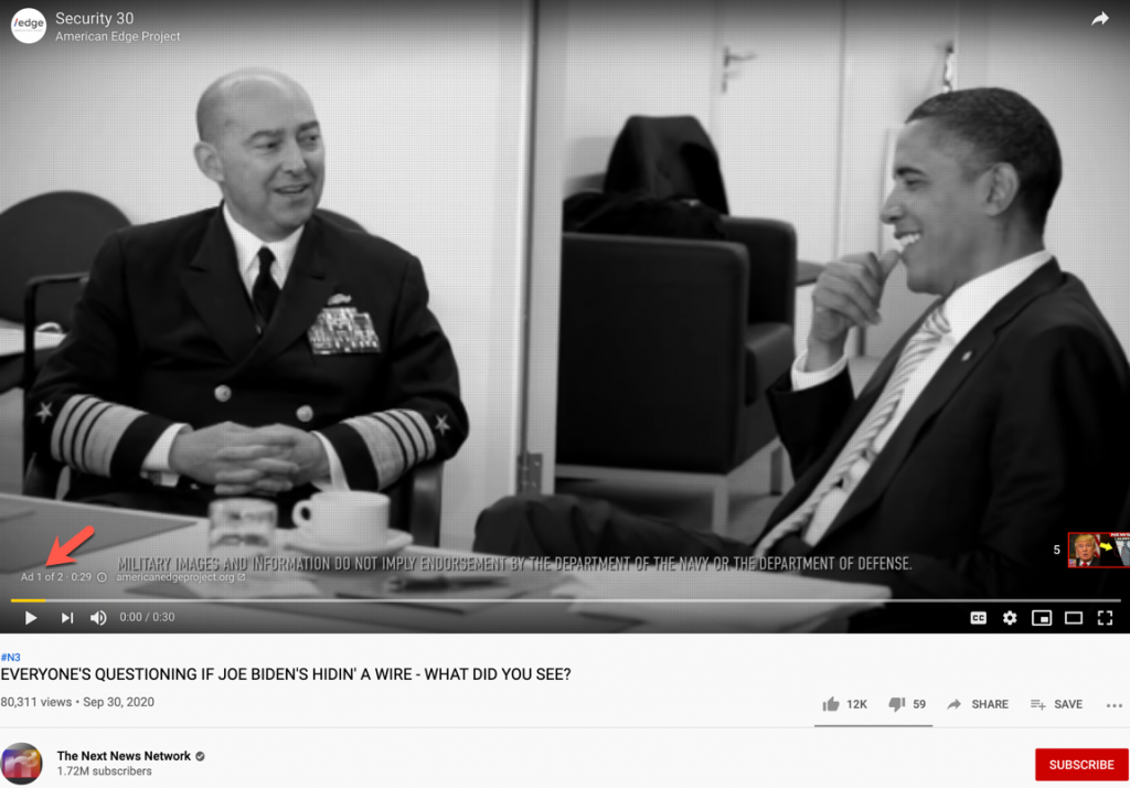 Biden wire YouTube ads1