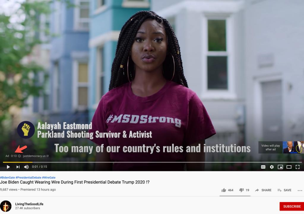 Biden wire YouTube ads2