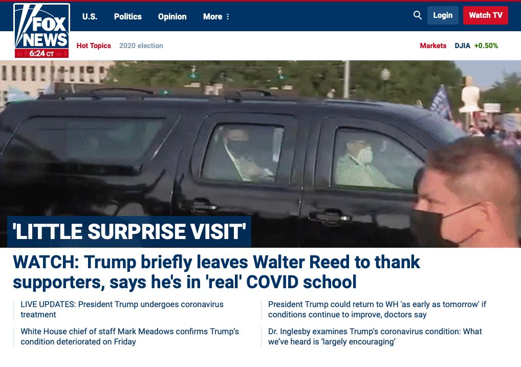 Trump Fox COVID joyride