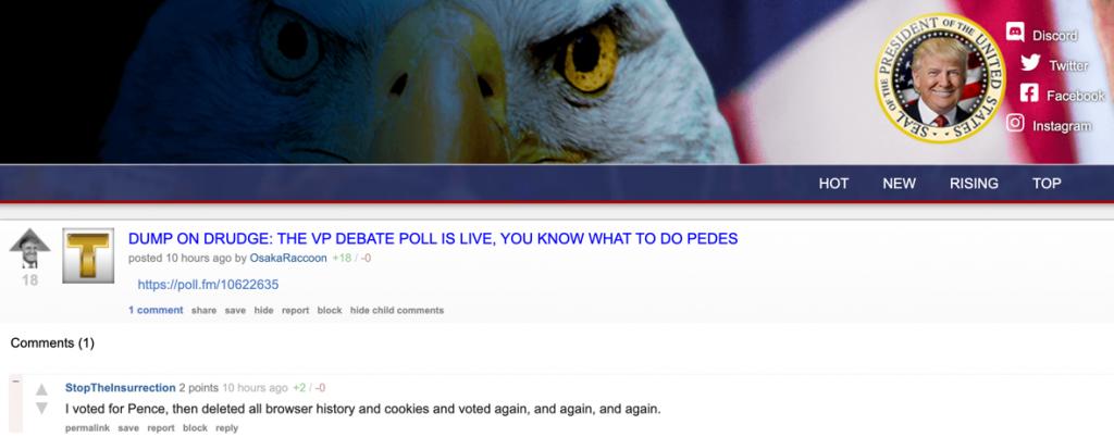 TheDonald Drudge VP poll