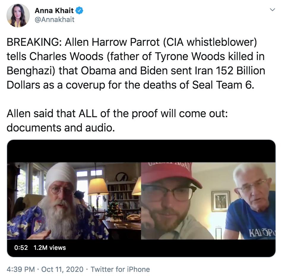 10.15.20 Benghazi conspiracy theory screenshot 1