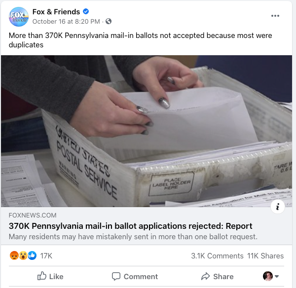 Fox & Friends PA ballot applications