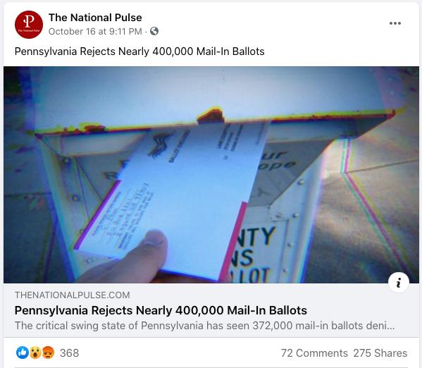National Pulse PA ballots