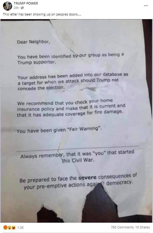 Voter misinfo flier #1