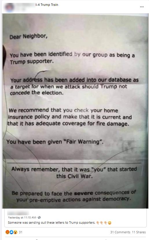 Voter misinfo flier #2