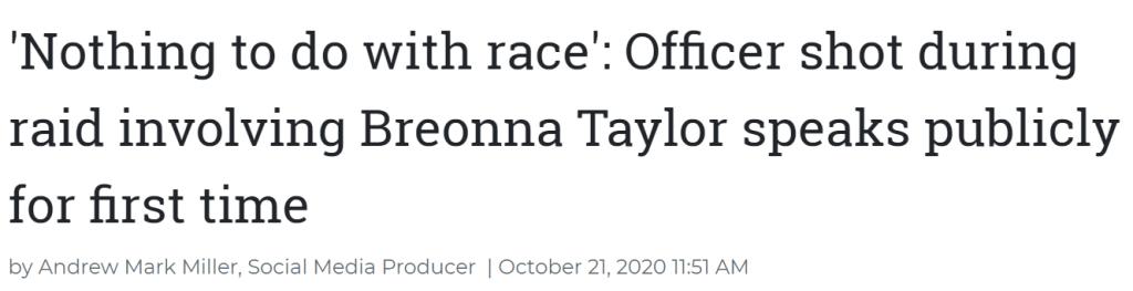 Wash. Examiner Breonna Taylor headline