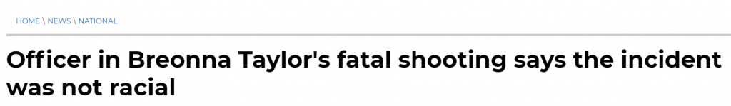 Wash. Times Breonna Taylor headline
