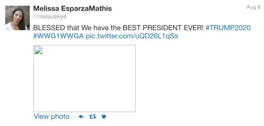 Melissa Esparza-Mathis QAnon Twitter