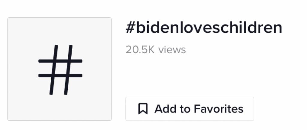 #BidenLovesChildren