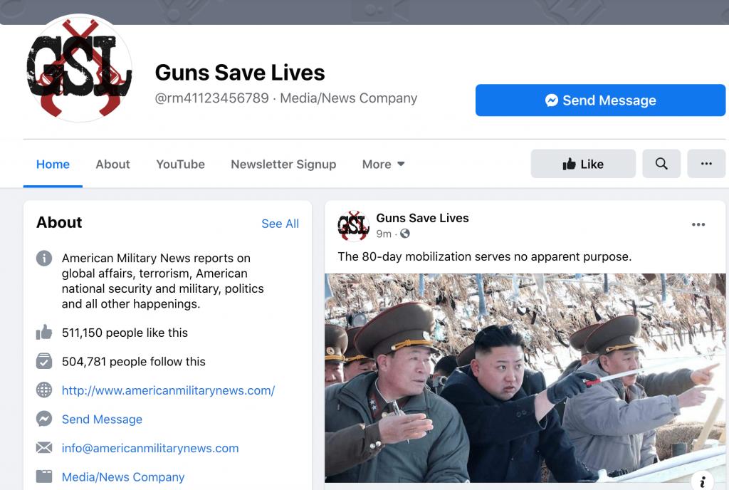 Guns Save Lives Facebook page followers