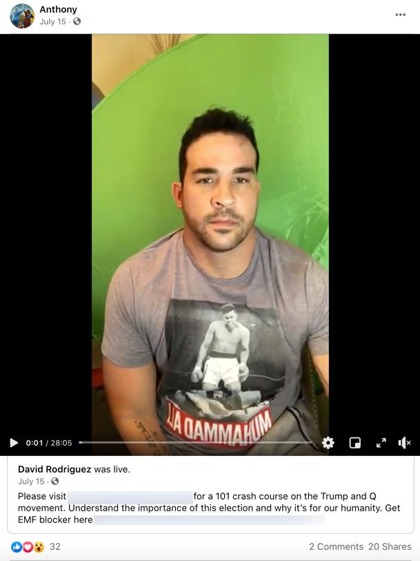 Anthony Aguero QAnon Facebook1