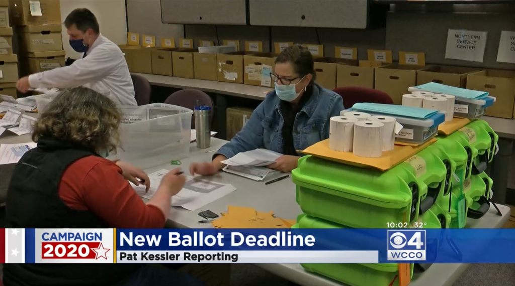 WCCO's news coverage of an appeals court ruling about MN's mail-in ballots