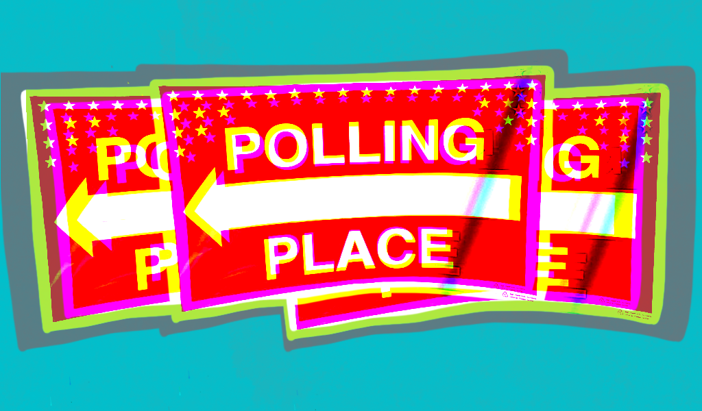 Polling place signs