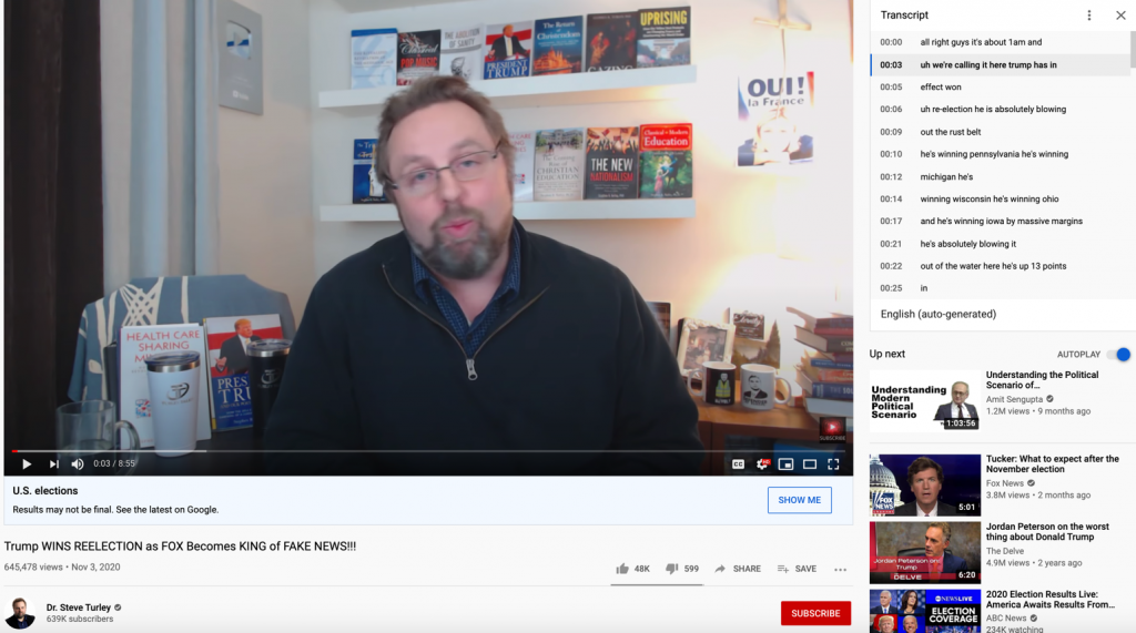 YouTube election misinfo3