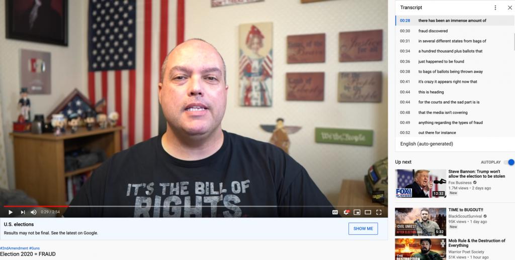 YouTube election misinfo7