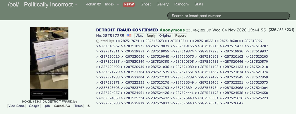 4chan post claims to show evidence of dead voters in Detroit