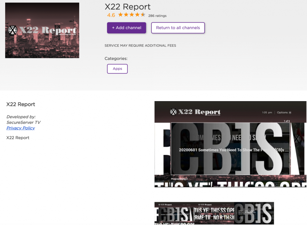X22 Report Roku