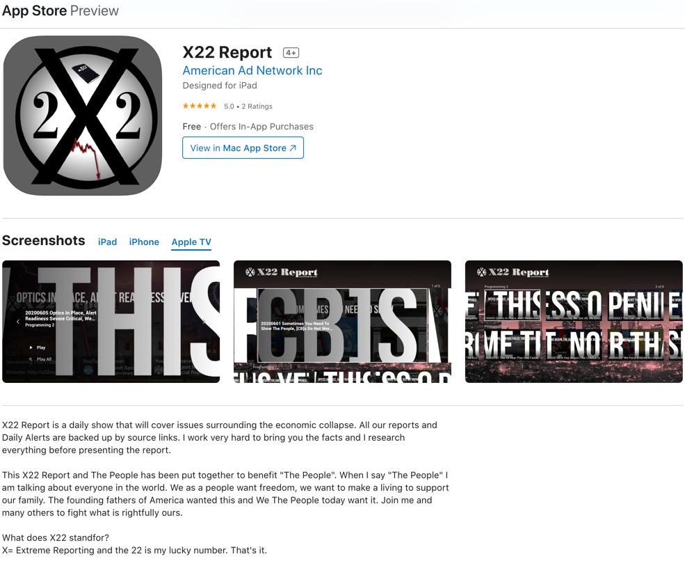 X22 Report Apple TV