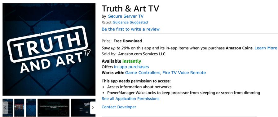 Truth and Art TV Amazon