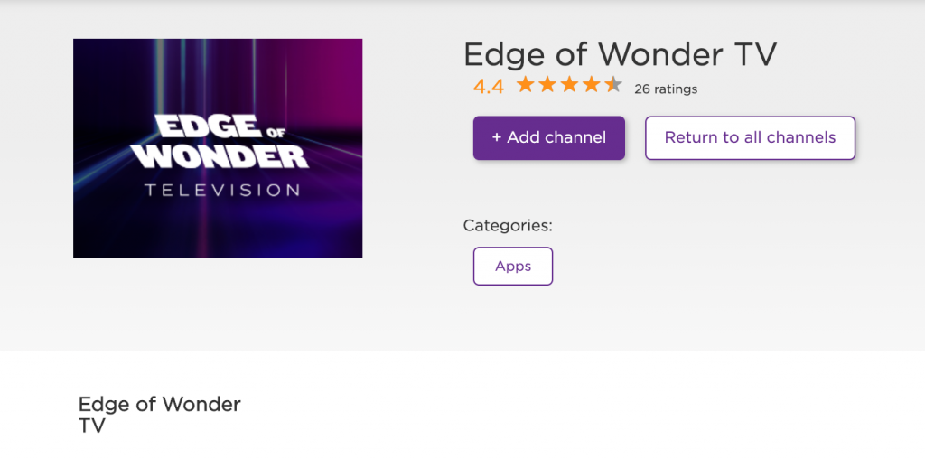 Edge of Wonder Roku