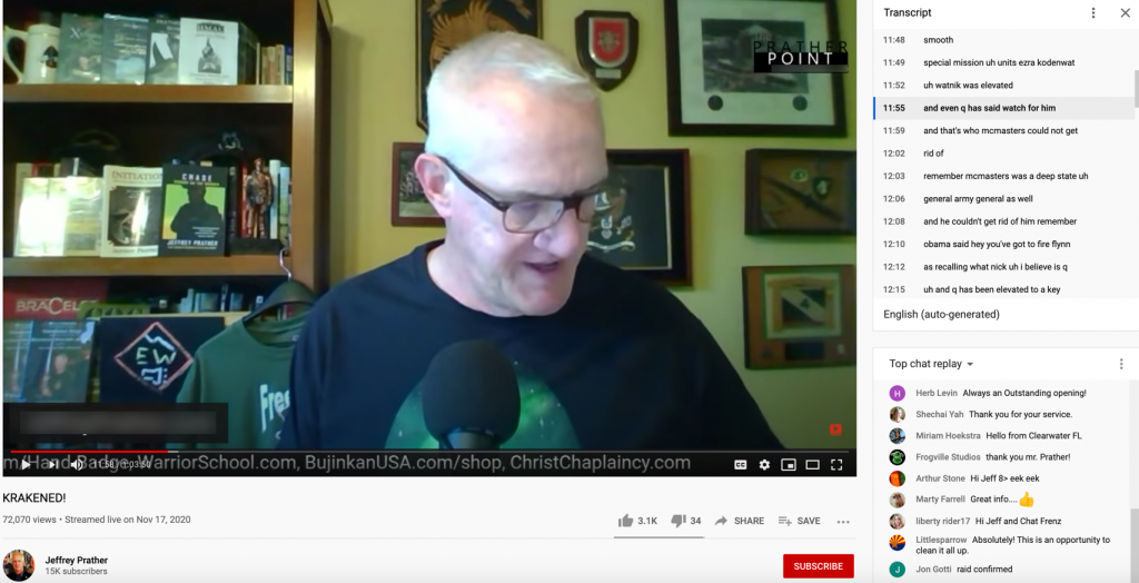 Jeffrey Prather QAnon YouTube