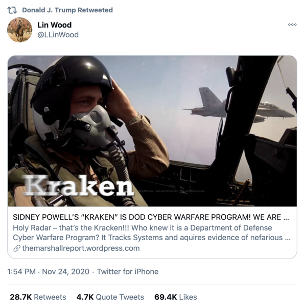 Trump retweet Lin Wood