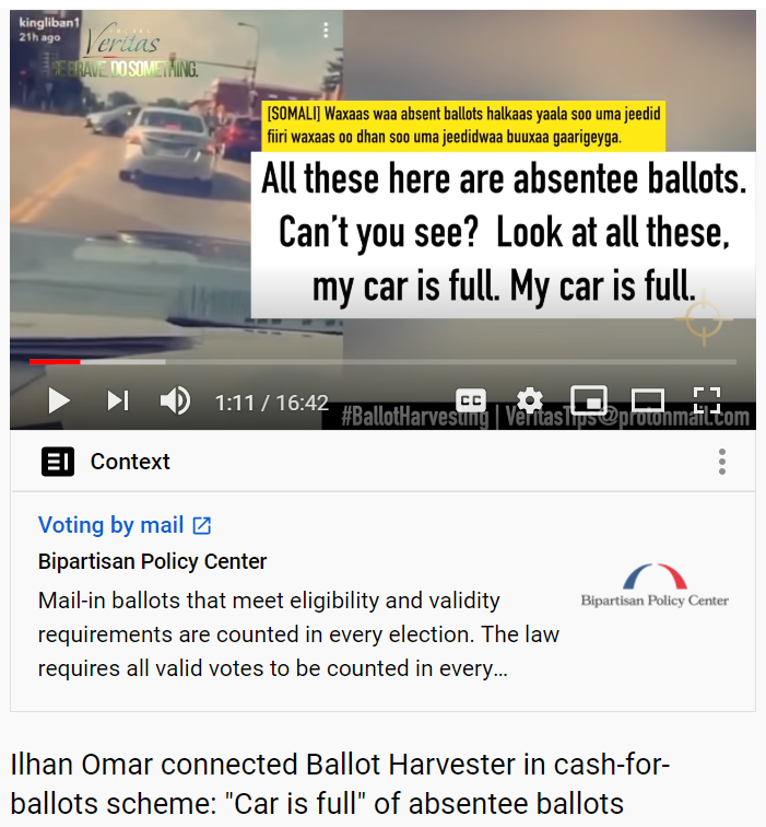 Project Veritas first MN ballot harvesting video 9/27