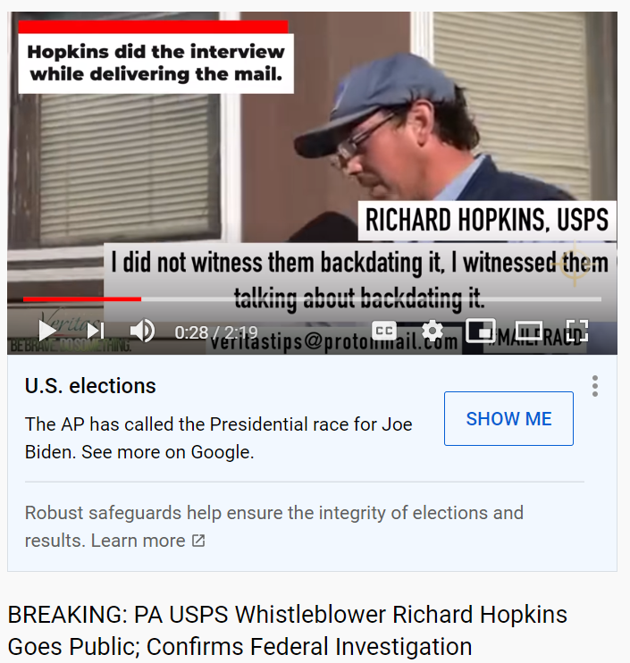 Project Veritas Richard Hopkins goes Public 11/6/20