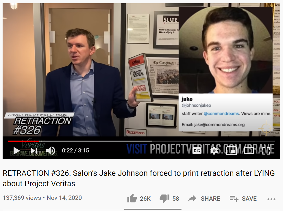 Project Veritas Retracto example 11-14
