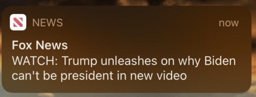 Fox push alert unleashes