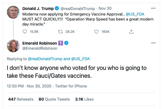 screen grab - emerald robinson tweet