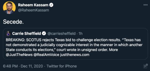 "Raheem Kassam: ""Secede."""