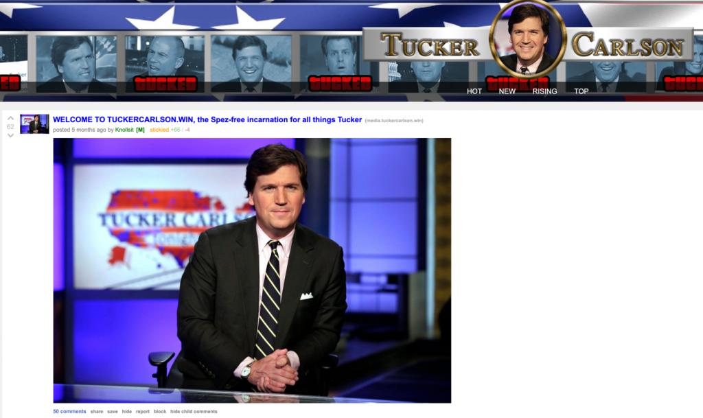 Tucker Carlson dot win