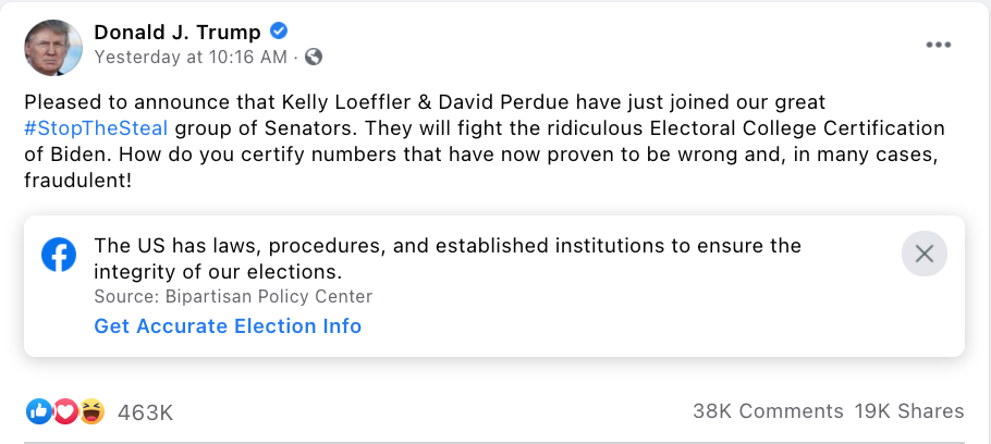 Loeffler and Perdue agree to object to electors