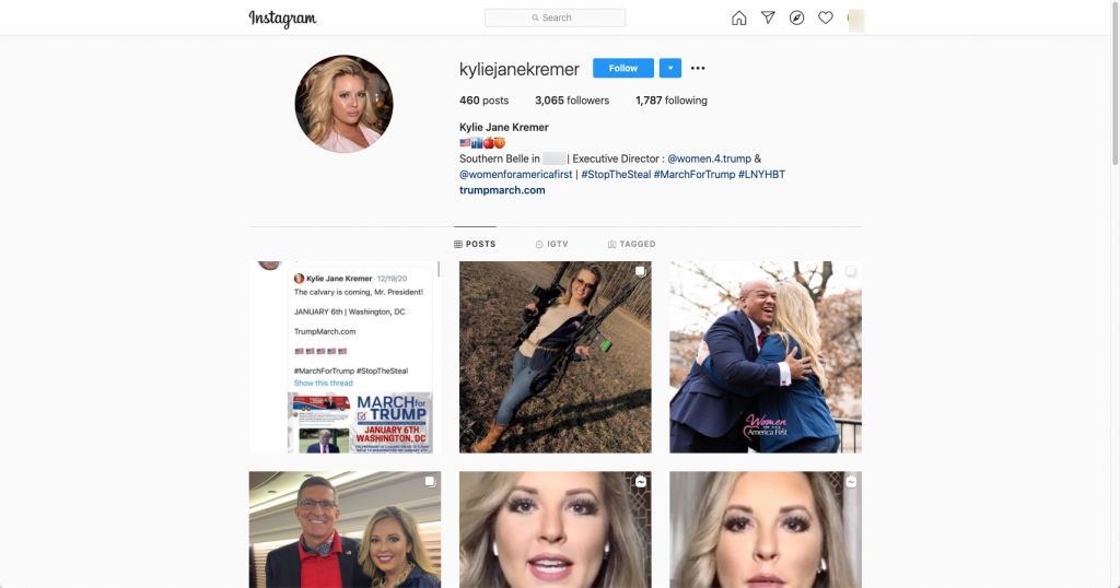 Image of Instagram page