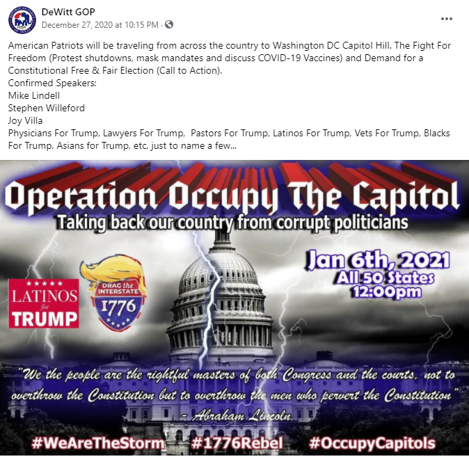 DeWitt Republican Party Operation Occupy the Capitol