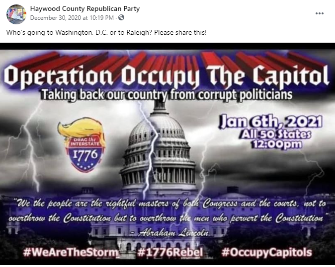 Haywood County Republican Party Operation Occupy the Capitol
