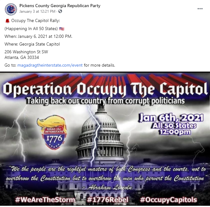 Pickens County Republican Party Operation Occupy the Capitol