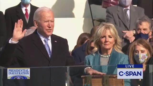 President Biden sworn in