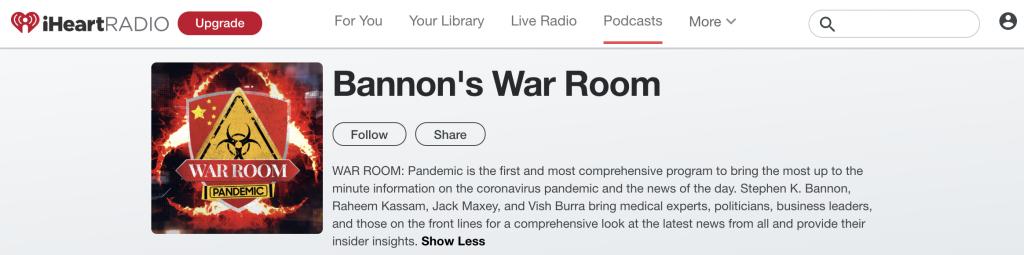 Bannon iHeartRadio
