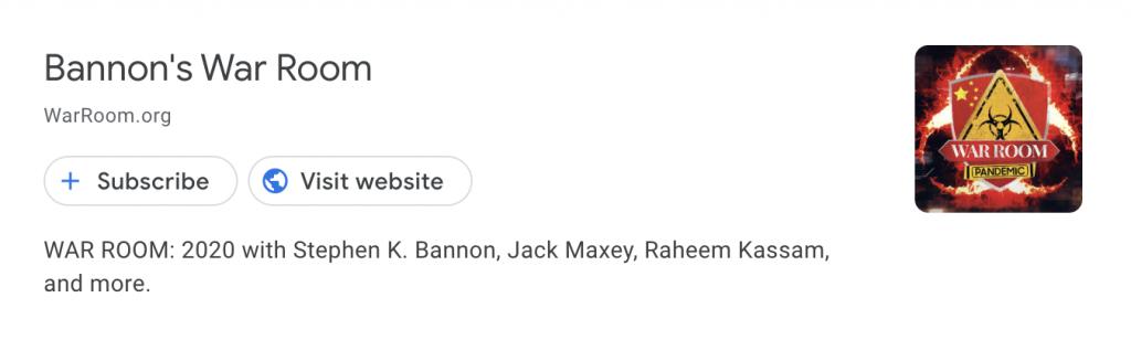 Bannon Google Podcasts