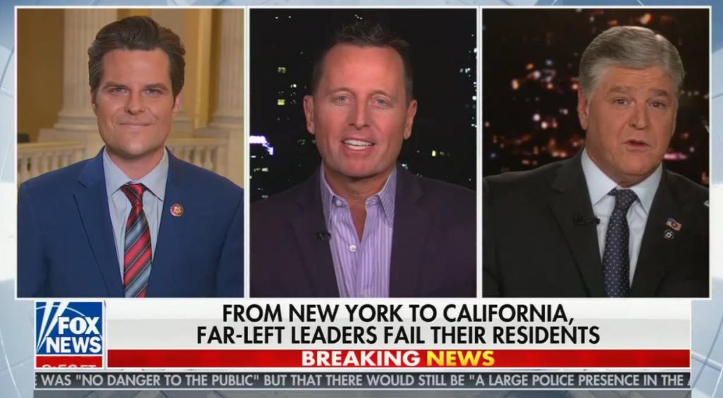 "chyron reads, ""FROM NEW YORK TO CALIFORNIA, FAR-LEFT LEADERS FAIL THEIR RESIDENTS"""