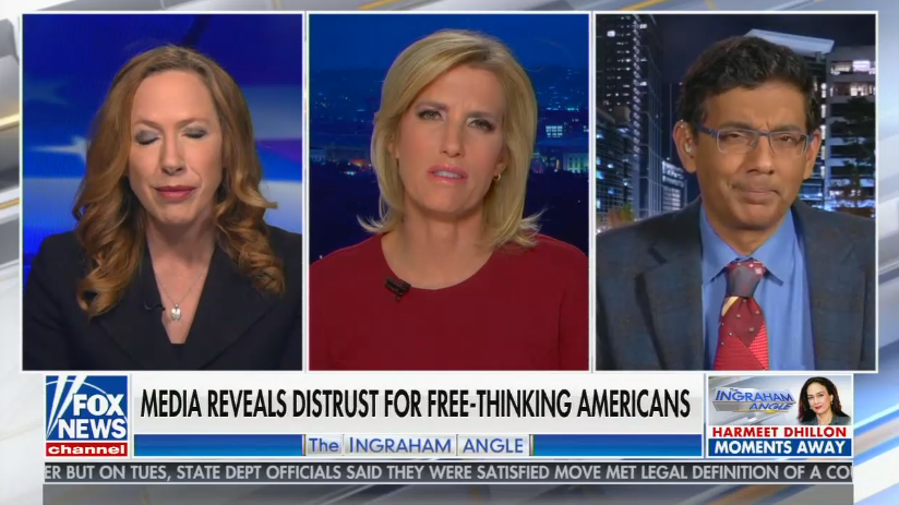 """chyron reads, """"MEDIA REVEALS DISTRUST FOR FREE-THINKING AMERICANS"""""""