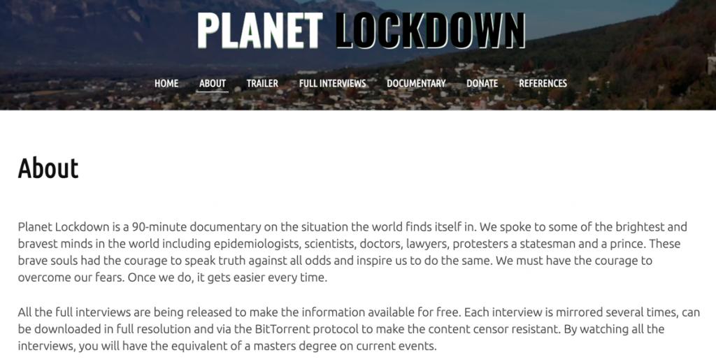 Planet Lockdown site description