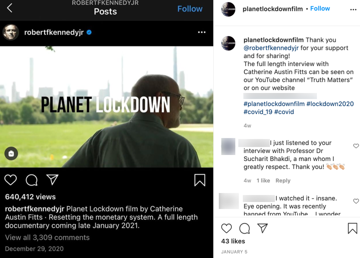 Planet Lockdown YouTube channel confirmation