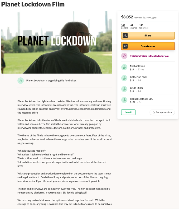 Planet Lockdown GoFundMe