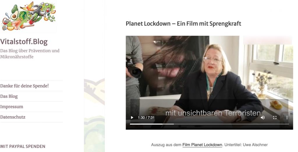 Planet Lockdown German site